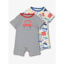 Blue & Red Car Print Rompers 2 Pack (0 - 24 months)