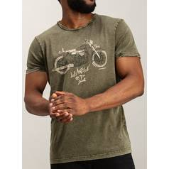 Khaki Green Bike T-Shirt