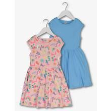 Multicoloured Pop Art Dresses 2 Pack (3-14 Years)