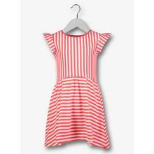 Red & White Stripe Jersey Dress (3-14 years)