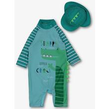 Green Crocodile Sunsafe Swimsuit Set (0- 3 Years)