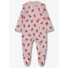 Pink Strawberry Zipped Sleepsuit (Newborn - 24 months)