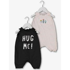 Multicoloured Hug Me Rompers 2 Pack
