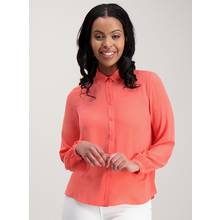 Neon Coral Long Sleeve Shirt