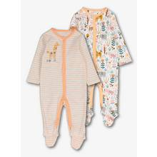 Multicoloured Safari Print Sleepsuits (Newborn - 24 months)