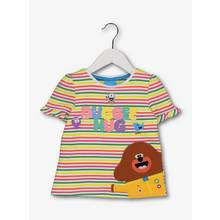 Hey Duggee Multicoloured T-Shirt With Frill Sleeves (9 month
