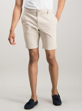 Online Exclusive Stone Chino Slim Fit Shorts With Stretch