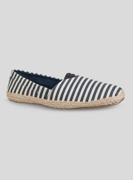 Online Exclusive Navy & Cream Striped Espadrille