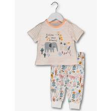 Multicoloured Safari Print Pyjamas (0-36 months)