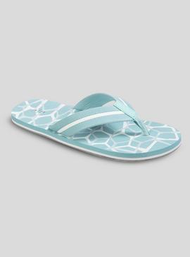 Online Exclusive Light Blue Flip Flops