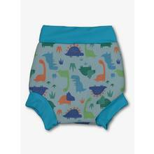 Banana Bite Blue Dinosaur Print Swim Nappy Cover (0 - 3 Year