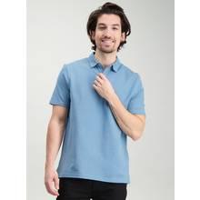 Blue Cotton Polo Shirt