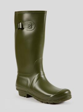 Online Exclusive Green Buckle Detail Wellies