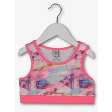 Neon Pink Flamingo Print Dance Top (3-14 years)