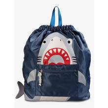 Navy Shark Swim Bag - One Size