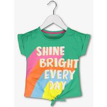 Green 'Shine Bright Everyday' Slogan T-Shirt - 9-12 months