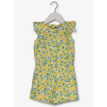 Yellow Lemon Print Ruffle Shoulder Playsuit (9 months - 6 ye