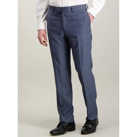 Blue Multi-Check Tailored Fit Suit Trousers