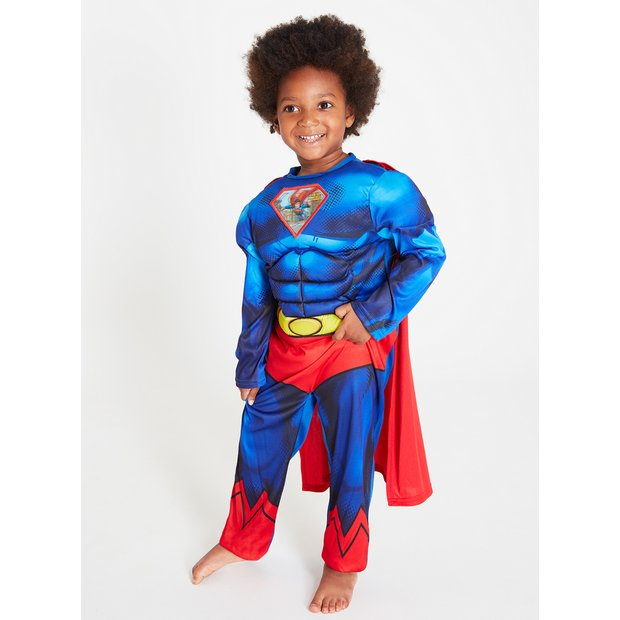 STOCK CLEARANCE KIDS CHILDRENS SPIDERMAN JUSTICE LEAGUE DC COMPLETE COSTUME