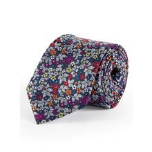 Multicoloured Floral Print Tie - One Size