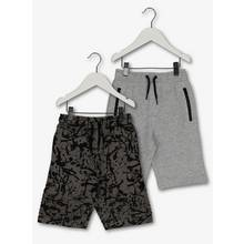 Grey Splatter Jersey Shorts 2 Pack (3 -14 years)