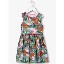 Multicoloured Parrot & Tiger Print Dress (3-14 years)