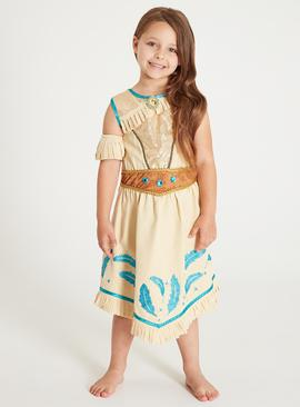 Online Exclusive Disney Princess Pocahontas Cream Costume -