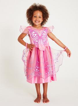 Online Exclusive Pink Butterfly Fairy Costume