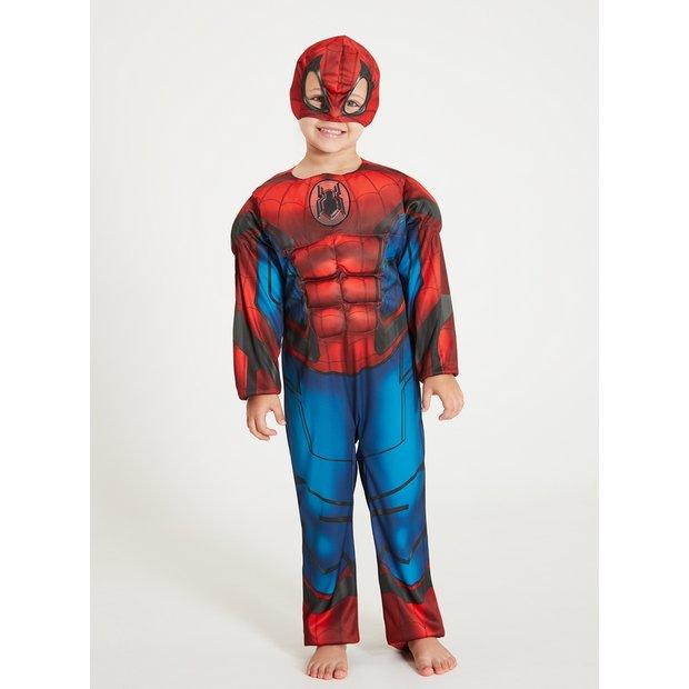 Disney Store Iron Spiderman Costume Boy 7//8 Avengers Marvel NEW