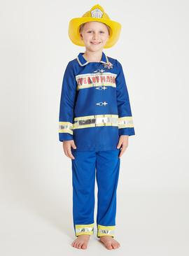 Blue Fire Officer Costume Set - 2-3 years