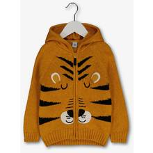 Yellow Tiger Zip Front Hooded Jumper (1-6 years)