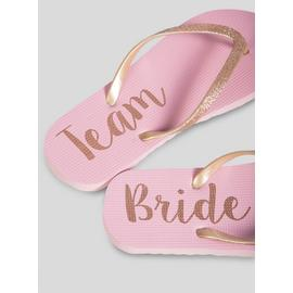 Online Exclusive Team Bride Pink Flip Flops