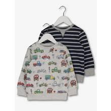 Multicoloured Transport & Striped Sweatshirt Set 2 Pack (1-6