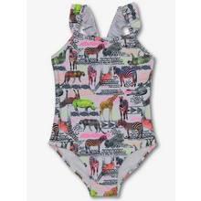 Multicoloured Animal Print Swimming Costume