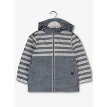 Blue Striped Shower Resistant Jacket (9 Months-6 Years)