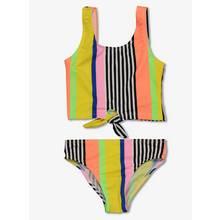 Multicoloured Deckchair Stripe Tankini