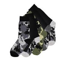 Multicoloured Camouflage Socks 5 Pack