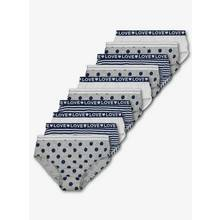 Navy & Grey Large Spot Briefs 10 Pack (18 months - 12 years)