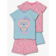 Multicoloured Flamingo Pyjamas 2 Pack