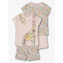 Multicoloured Giraffe Print Pyjamas 2 Pack(1.5 -12 years)