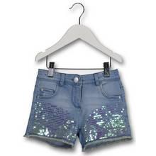 Blue Denim Sequin Shorts (3-14 Years)