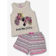 Multicoloured Fluro Zebra Print Pyjamas (2-12 Years)