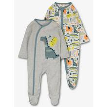 Multicoloured Dinosaur Safari Sleepsuits 2 Pack (0-24 months
