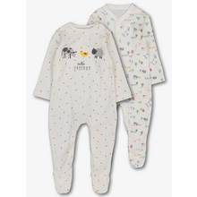 White Farmyard Print 2 Pack (Newborn - 12 Months)