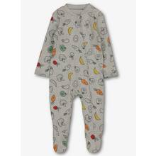 Grey Vegetable Print Sleepsuit (Newborn - 24 months)