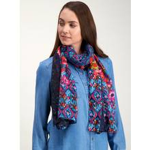 Multicoloured Floral Print Scarf - One Size