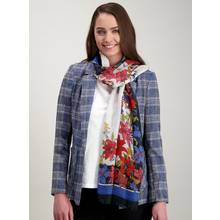 Multicoloured Floral & Nautical Scarf - One Size