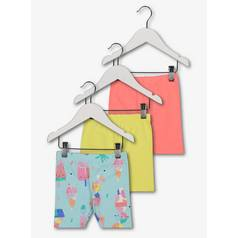 Multicoloured Lolly Pop Cycle Shorts 3 Pack (9 Months - 6 Ye
