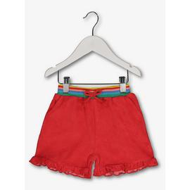 Red Towelling Shorts
