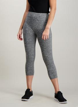 Active Grey Space Dye Cropped Leggings